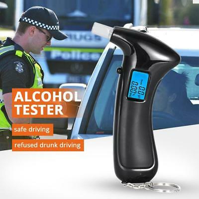 New LCD Digital Alcohol Breath Tester Breathalyzer Analyzer Detector Test Police