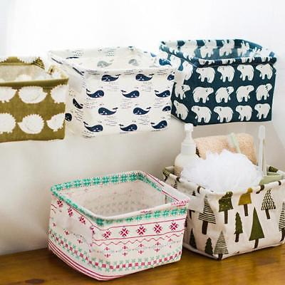 Foldable 5 Colors Storage Bin Closet Toy Boxes Container Organizer Fabric Basket
