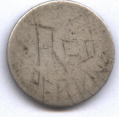 """1841-? Seated Dime Love Token * """"red Perkins"""" On Rev * Needs Study * Very Neat"""