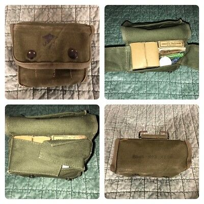 U.s Military Vietnam Issue Jungle First Aid Kit Pouch Canvas 1967 W Contents