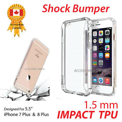 Impact Shock Absorbing Bumper Protective TPU Phone Case for iPhone 7 Plus 8 Plus