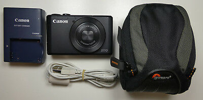 Canon PowerShot S110 12.1MP Camera Black with Case!