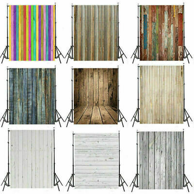 Retro Wood Plank Vinyl Studio Photography Backdrop Photo Prop Background 3/5/7ft