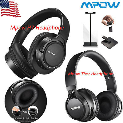 Mpow Thor/H7 Wireless Bluetooth Headphones Foldable Headset Stereo for Phone TV