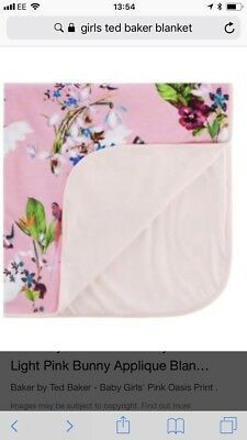 Gorgeous Girls Ted Baker Oasis Pink Blanket. BNWT