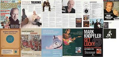 DIRE STRAITS- MARK KNOPFLER : CUTTINGS COLLECTION -adverts interview-