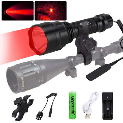 Tactical 3 Colors Flashlight Hunting Torch Light Camping Lamp Scope Gun Mount