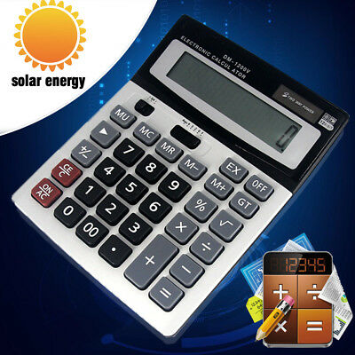 Brand New Boxed Desk Calculator Jumbo Large Buttons Solar Desktop Battery Dual