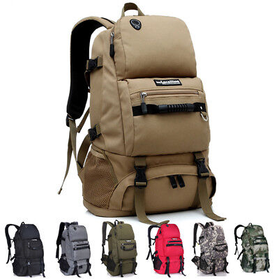 Outdoor Camping Hiking Travel Military 45 L Tactical Backpack Rucksack Army Bag