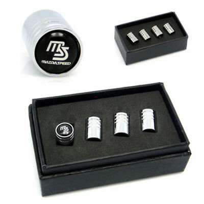 4Pcs Car MS Logo Tire Valve Stems Caps Wheel Tyre Parts Dust Covers For Mazda