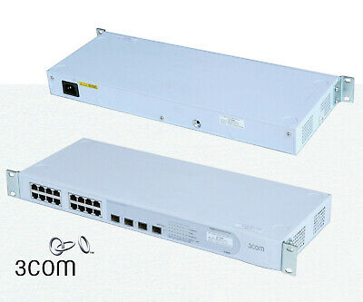 3COM Network Gigabit Baseline Switch 2816 SFP plus 16 RJ45 x1Gbit 3 x SFP O625