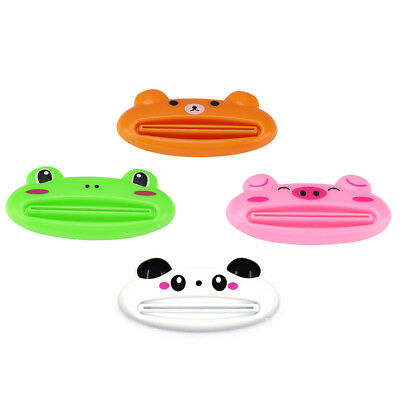 4Pcs Animal Toothpaste Cosmetic Tube Squeezer Frog Pig Panda Bear Bathroom Home