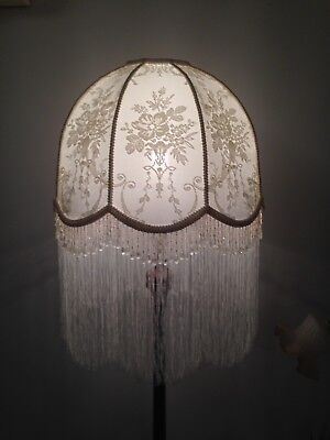 Lovely Cream Coloured New  Vintage Style Shade Hand Crafted For  Floor Lamp