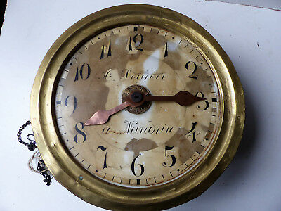 Movement clock foret black H & W alarm clock matin 19th David to Nadrin Belgium