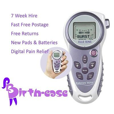 ELLE TENS - 7 WEEK HIRE.  Maternity Tens machine rent for Labour - Free Returns