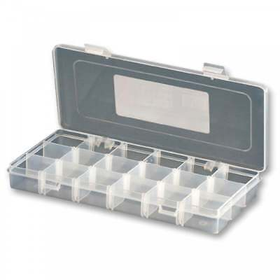 3-18 Compartment Transparent Organiser Box Removable Sections Storage Container