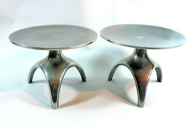 Art Deco  Style Aluminium Candle Stands