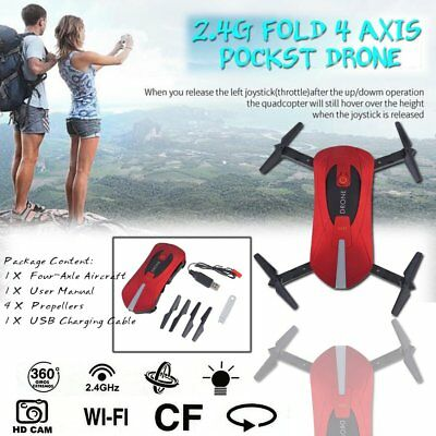JY018&Mini Dron Foldable WiFi HD FPV Camera Quadcopter Selfie Drone RC DronesRED