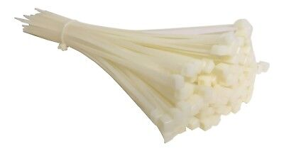100 NATURAL CABLE TIES 300mm X 4.8mm - UK Manufactured - DISCOUNTED