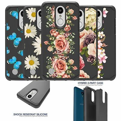 For LG Aristo 2|Rebel 3|Tribute Dynasty|Zone 4 Dual Layer Case - Floral Designs