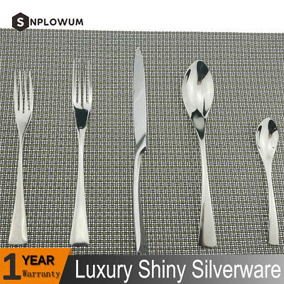 20 Pcs Mirror Polish Silver 10/18 Stainless Steel Silverware - Cutlery Set For 4