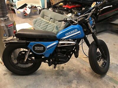 Suzuki 1981 T185 2 Stroke Trial Bike Custom Cafe Racer Project