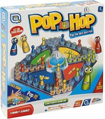 Childrens Kids Family Popping Dice Pop And Hop Ludo Classic Board Game Toys