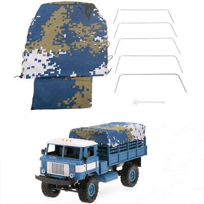Rope Canvas Hood Cover Cloth Truck For RC Car 1:16 WPL B24K Military Vehicle NEW