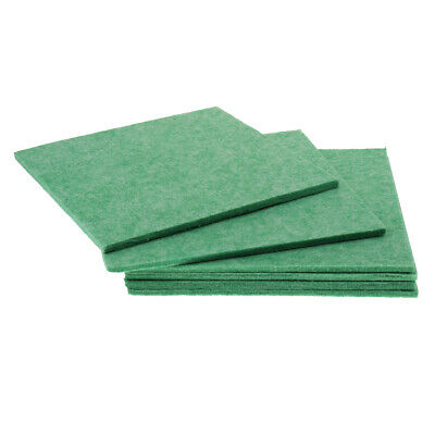 6pcs Acoustic Foam Sound Absorption Panel for Home Theater Studio Room Green