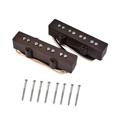 Jazz Guitar /Bass 4 String Pickup w/ 8 Pcs Mounting Screws Set for Musical