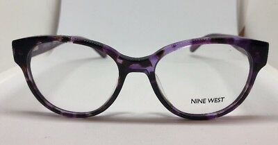 7901b753b3 New NINE WEST Optical Eyeglasses RX Frame NW 5079 518 Purple Tortoise 50-17-