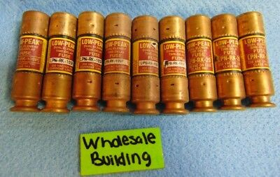 Bussmann Low Peak Fuses Lpn-Rk-10Sp, Lpn-Rk-20, Lpn-Rk-15Sp Lot Of 9