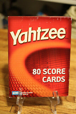 Yahtzee 80 Score Cards Parker Brothers New Game Boardgame replacement