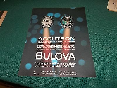 pubblicità 1963 OROLOGIO WATCH BULOVA ACCUTRON PILOTI ALITA ADVERTISING WERBUNG
