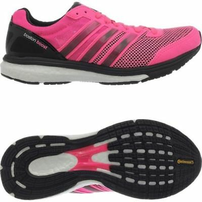 new concept 19372 0223d Adidas Adizero Boston Boost 5 Running Shoes Trainers Pink Womens Ladies UK 8