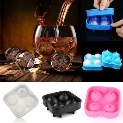 Whiskey Silicon Ice Cube Ball Maker Mold Sphere Mould Brick Party Tray Round RR
