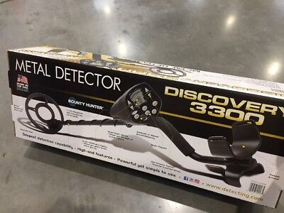 "Bounty Hunter Metal Detector- Discovery 3300 waterproof 8"" coil -Treasure Finder"