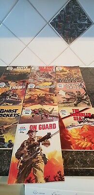 Vintage War Picture Library Comics x 10- See description for Nos