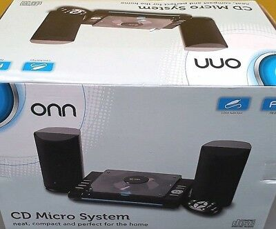 ONNKS-3398A CD Micro System Compact Disc Digital Audio Radio & 3.5mm AUX Input
