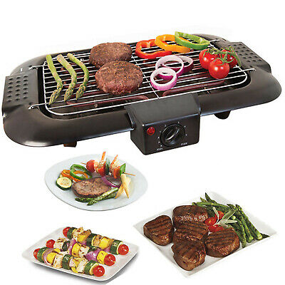 Electric Table Top Grill BBQ Barbecue Garden Camping cooking 2000W Quest