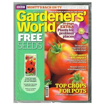 Gardeners' World Magazine  March 2014 MBox2326 Top Crops for Pots
