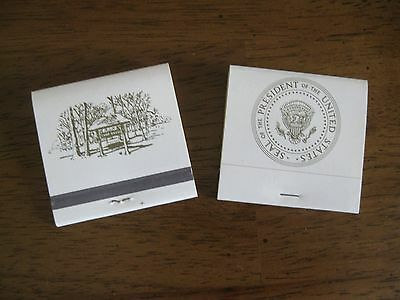 2 Vintage Matchbooks/ Matches from Camp David & Presidential Seal /NEW