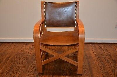 Set of 6 Ralph Lauren Home Sheltering Sky Leather Chairs