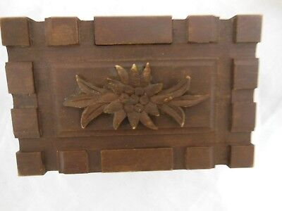 Antique Black Forest Hand Carved Puzzle Box W/concealed Opening Panel C 1900