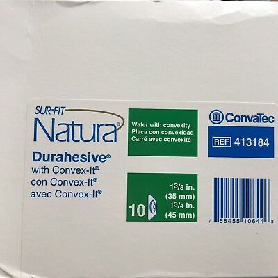 Sur Fit Natura Durahesive with Convex-It 413184 - 10 ostomy wafers