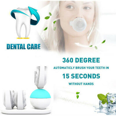Automatic Electric Hands-Free Amabrush Toothbrush U Shape Wireless Rechargeable