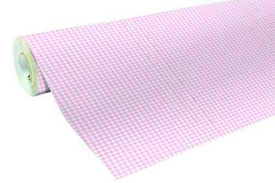 (TG. 80 g) Clairefontaine carta da regalo 80 g baby rosa mit Vichy Motiven - NUO