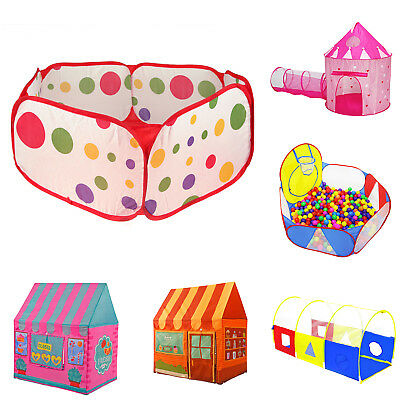 Baby Kids Crawling Practice Tunnel Game House Indoor Tent Playhuts Play Yards