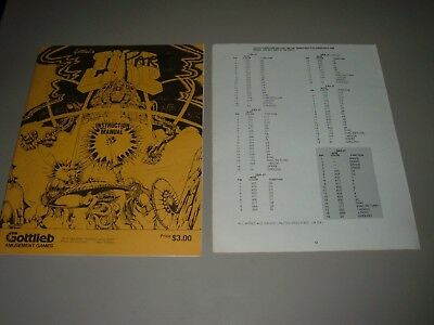 Gottlieb Time Line Original Manual with correction sheet.