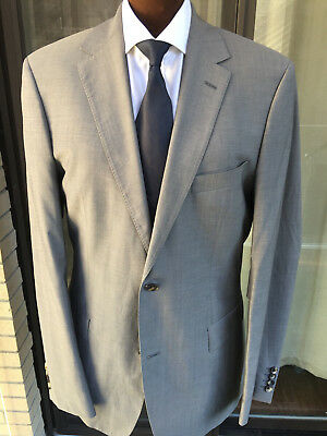 e8edee315 Recent Hugo Boss Pasolini Movie 2Btn Charcoal Gray Suit Wool Flat Front  42L.
